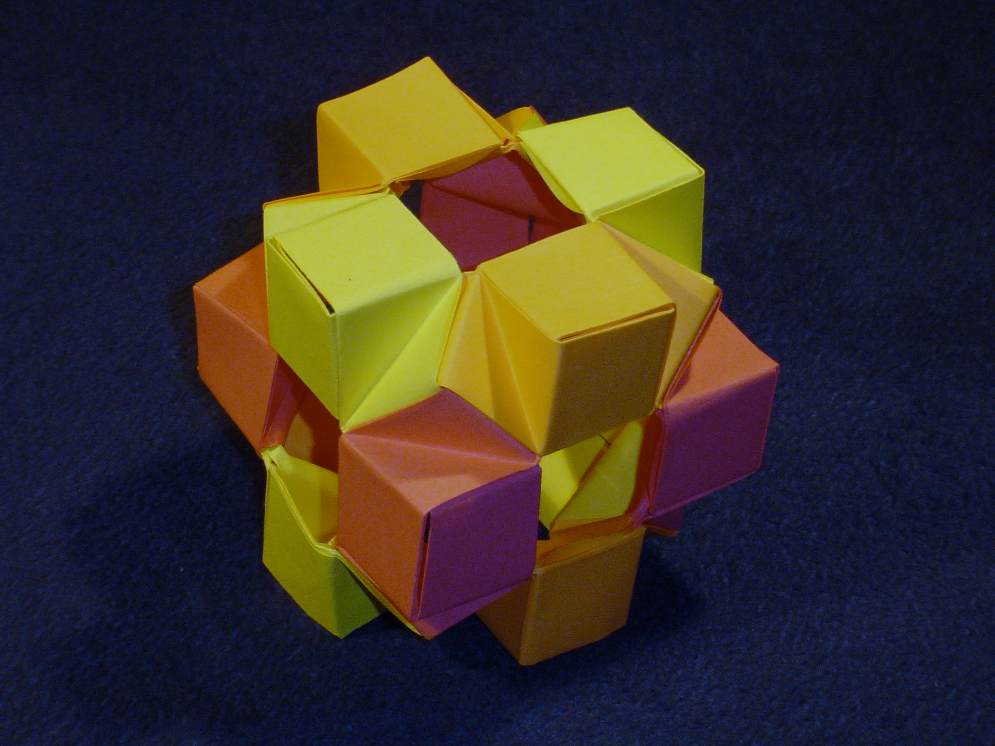 Modular Origami - balls and polyhedra folded by Michał Kosmulski.