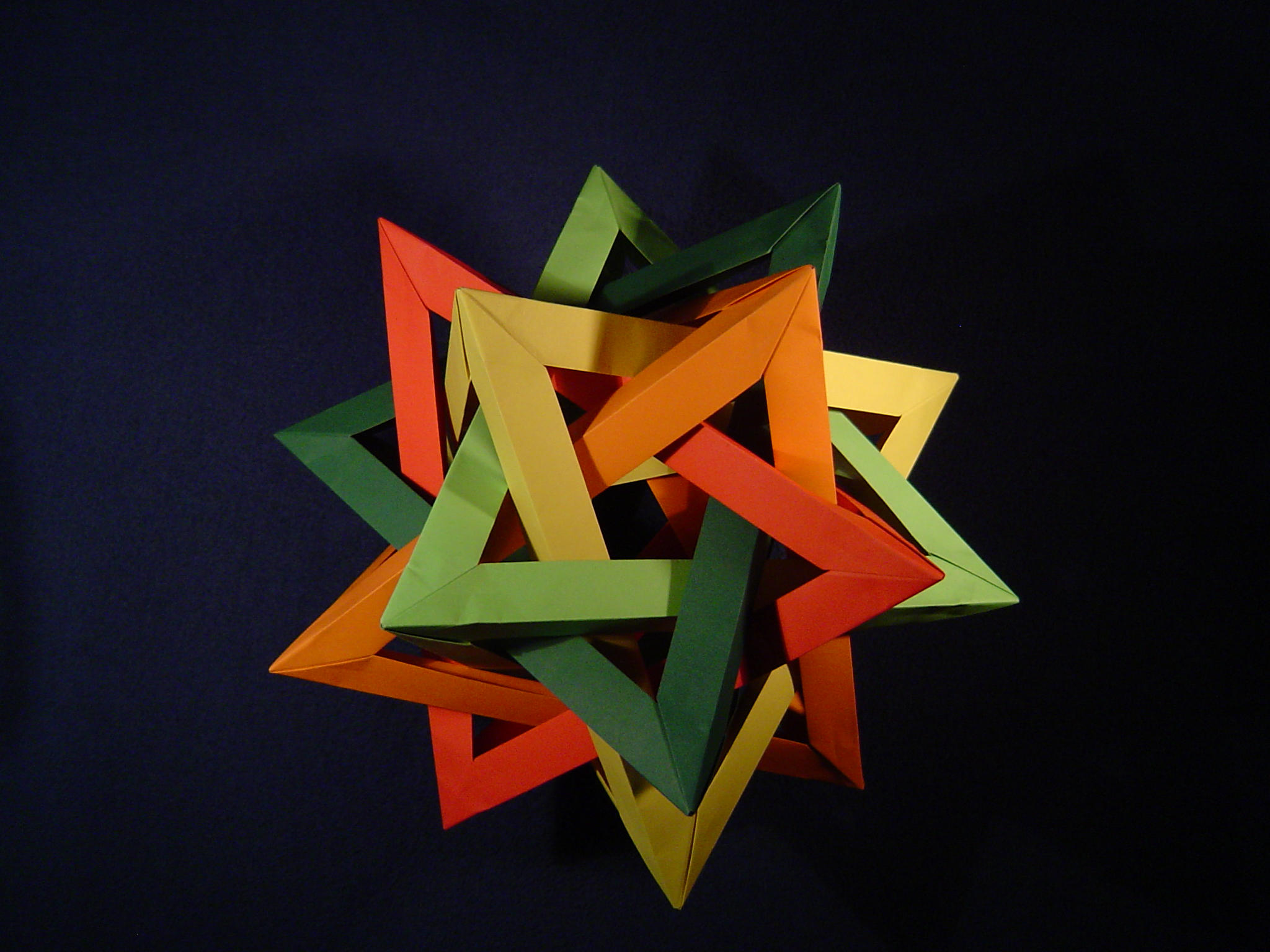 four intersected tetrahedra