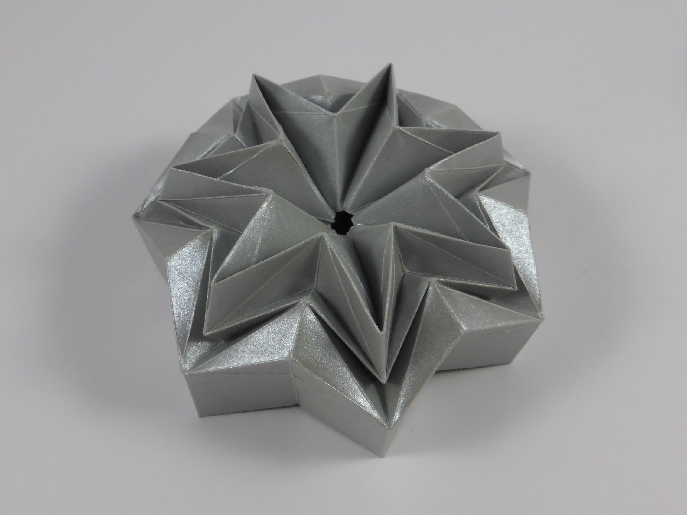 Heptagonal Star Box UD DU Chevron Corrugation
