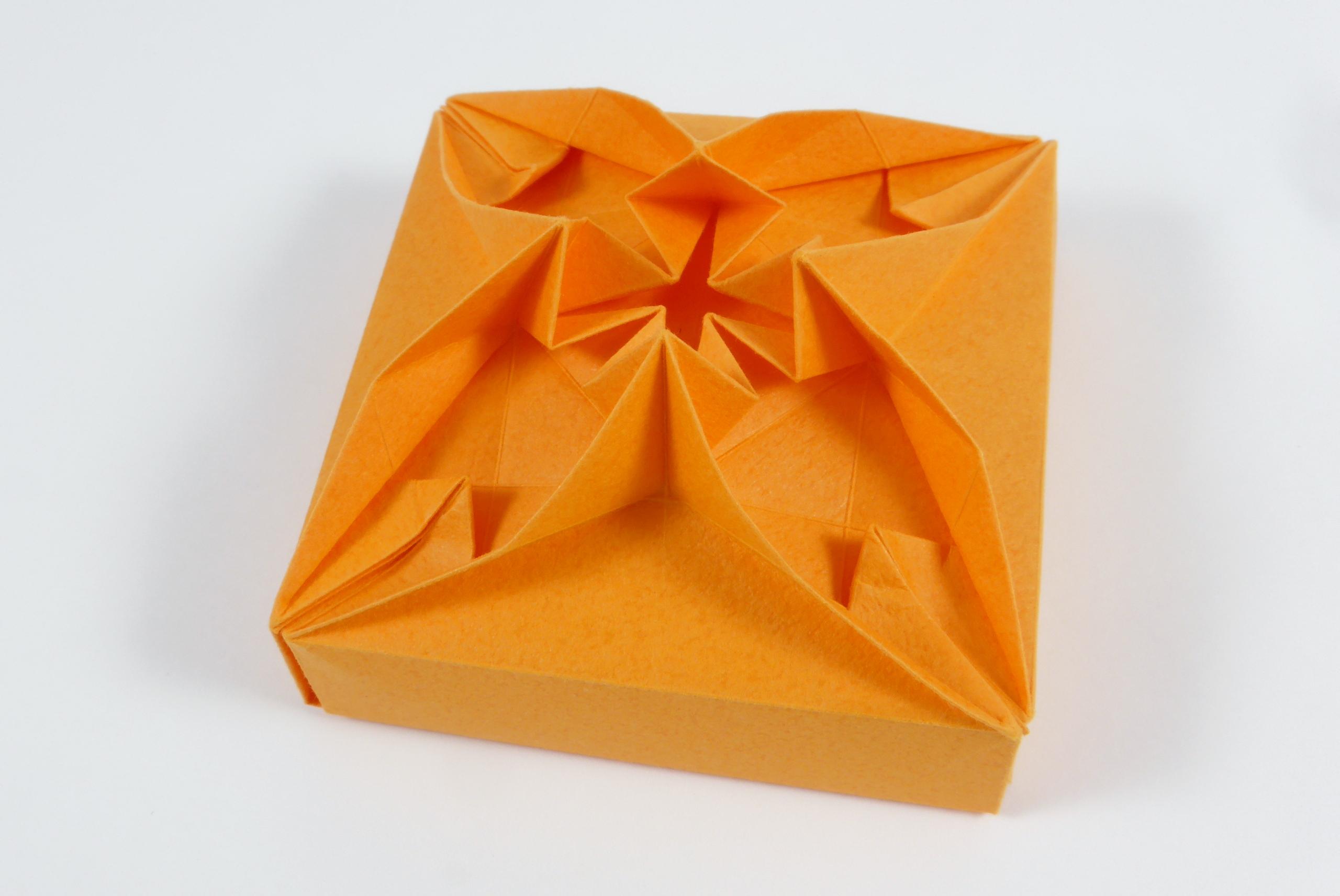 Origami boxes models folded by micha kosmulski heptagonal star box ud du chevron corrugation mightylinksfo